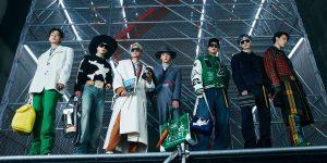 BTS Walk in Louis Vuitton's Fall/Winter 2021 Men's Fashion Show in Seoul